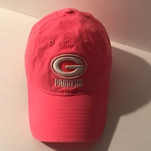 Green Bay Packers Pink Hat Cap Adjustable back